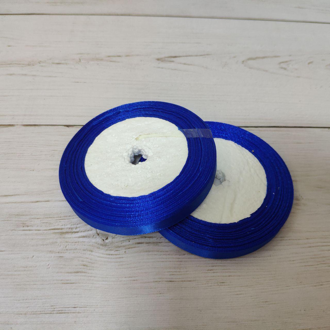 Лента атласная 12мм синий