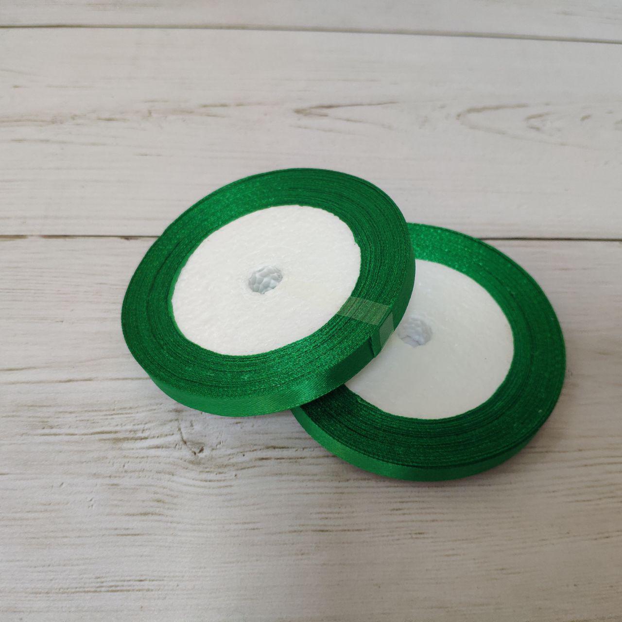 Лента атласная 12мм зеленый