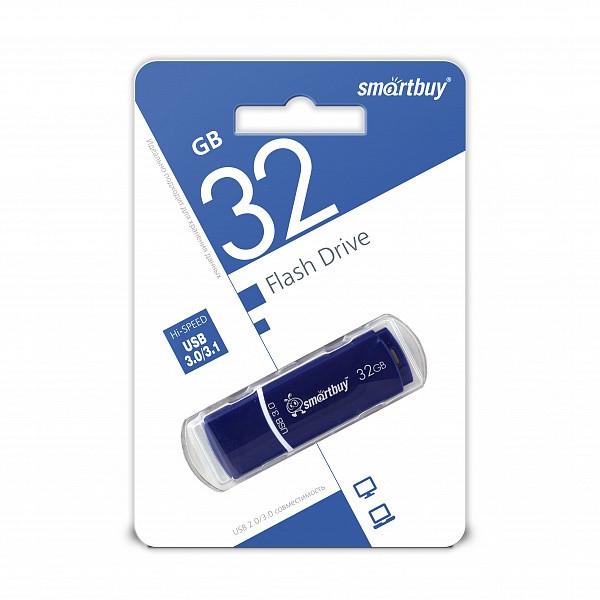 USB 3.0 накопитель Smartbuy 32GB Crown Blue
