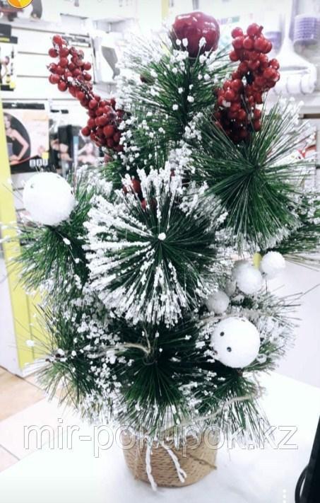 Новогодняя настольная елка  40 см  гелевая   Алматы