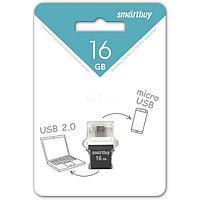 USB накопитель Smartbuy 16GB OTG POKO series Black