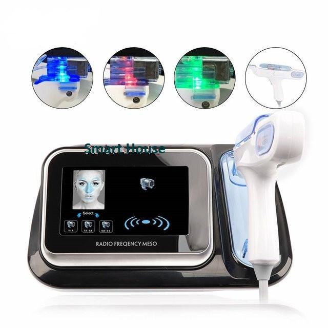 Аппарат 3в1 мезопистолет + RF + фото хромо терапия