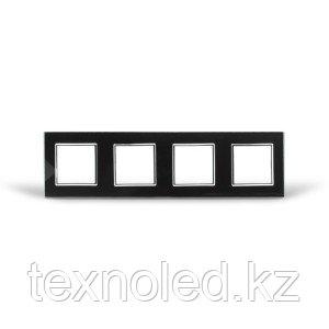 Рамка 4-я Стекло Черное, фото 2