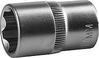Торцовая головка ЗУБР 27725-17_z02, МАСТЕР, (1/2), Cr-V, SUPER LOCK, хроматированное покрытие, 17мм