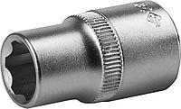 Торцовая головка ЗУБР  МАСТЕР, (1/2), Cr-V, SUPER LOCK, хроматированное покрытие,12мм