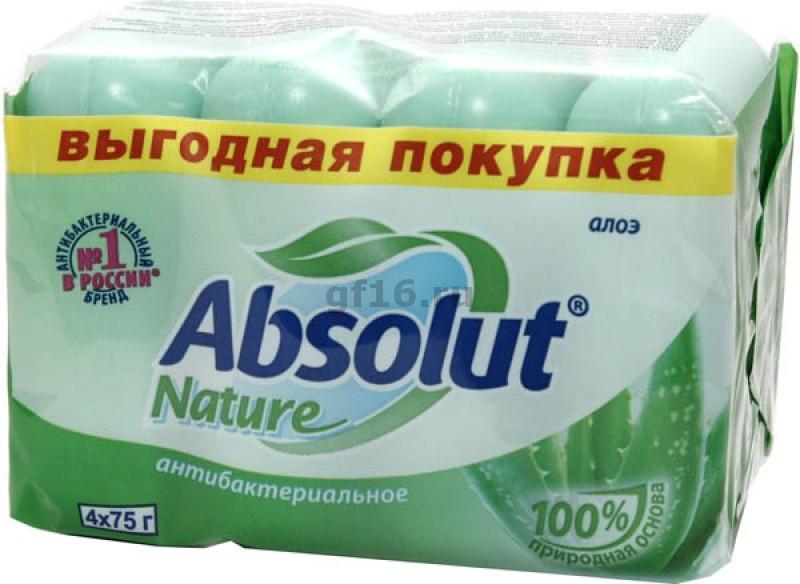 Туалетное мыло Absolut 4 в 1 Aloe 300г