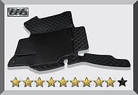 3D Коврики в салон Toyota Land Cruiser 200 2007-2015 Чёрные EVO