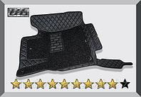 3D Коврики в салон Toyota Land Cruiser Prado 150 2009-2013 Чёрные 7 мест