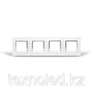Рамка 4-я Стекло Белое