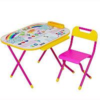 """Стол-стул """"Дэми"""" Трансформер Дошколёнок - """"Блокнот"""" розовый"""