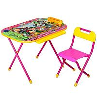"""Набор мебели стол+стул Дэми  (Всезнайка,""""Чиполлино"""" розовый)"""