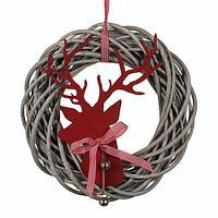 Декорация Венок из прутьев с оленем ED1032419