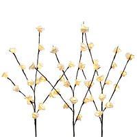 Декорация Ветка Цветы розы 100см кабель коричневый 3м KA482113