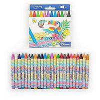Восковые карандаши Yalong 24 цвета