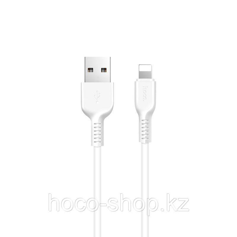 Кабель для зарядки телефона и передачи данных USB Lightning Hoco x20 2 метра, белый