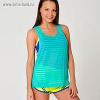 Спортивная майка ONLITOP Summer размер 42-44, цвет бирюзовый