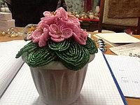 Цветы из бисера Фиалка