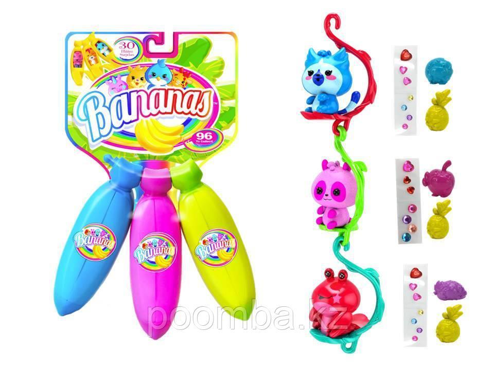 Bananas Игрушка связка из 3х бананов, цвета синий, фиолетовый, зелёный