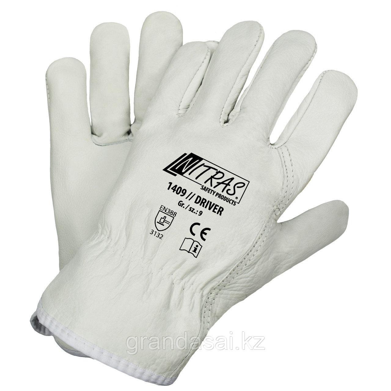 Кожаные зимние перчатки NITRAS DRIVER