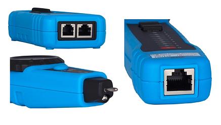 Многофункциональный трассоискатель LAN тестер RJ11+RJ45, тон генератор+щуп с подсветкой FWT11, фото 2