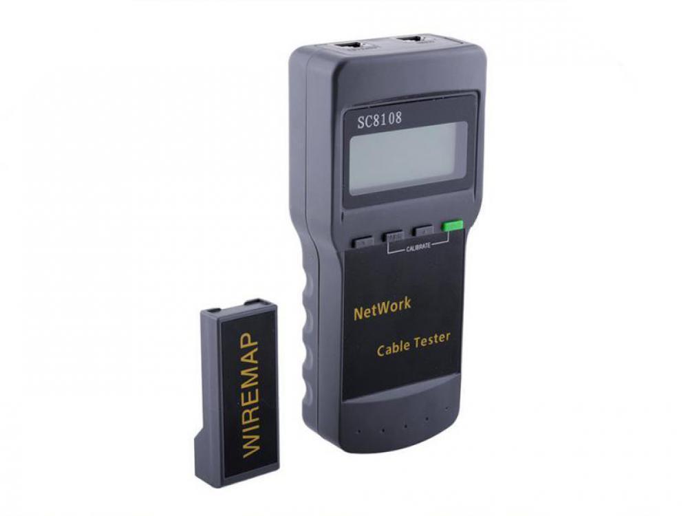 Кабельный LAN-тестер  SC8108 для телефонных, компьютерных, коаксиальных сетей