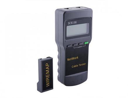 Кабельный LAN-тестер  SC8108 для телефонных, компьютерных, коаксиальных сетей, фото 2