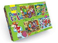 Пазлы 4 пазла 2*54эл 2*20эл Danko toys Сказки/Мультфильмы в ассортименте