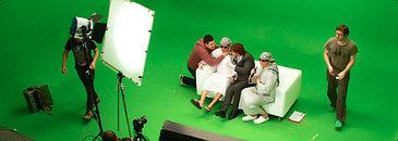 Хромакей съемка видео на зеленом фоне
