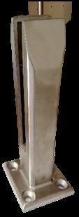 Лестничное ограждение KS-YM11 SS304 satin/mirror H=185mm. T=12mm-17mm