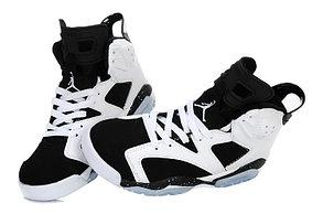 Баскетбольные кроссовки Nike Air Jordan 6 Retro белые, фото 2