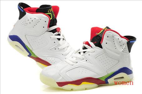 Баскетбольные кроссовки Nike Air Jordan 6 Retro светящаяся подошва , фото 2