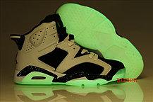 Баскетбольные кроссовки Nike Air Jordan 6 Retro светящаяся подошва , фото 3