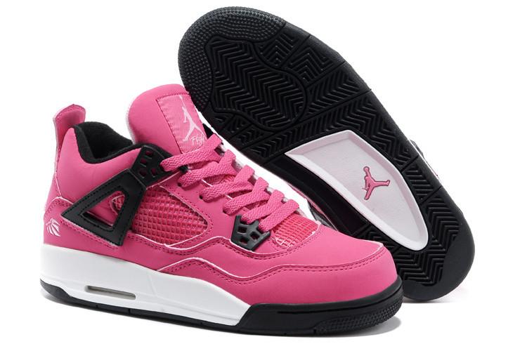 Женские баскетбольные кроссовки Nike Air Jordan 4 Retro розовые