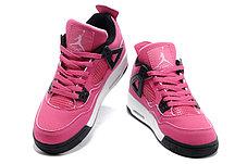 Женские баскетбольные кроссовки Nike Air Jordan 4 Retro розовые, фото 3