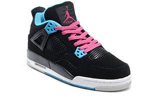 Баскетбольные кроссовки Nike Air Jordan 4 Retro черные, фото 3
