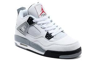 Баскетбольные кроссовки Nike Air Jordan 4 Retro белые, фото 2