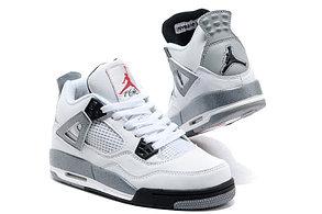 Баскетбольные кроссовки Nike Air Jordan 4 Retro белые, фото 3