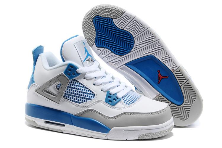 Баскетбольные кроссовки Nike Air Jordan 4 Retro белые