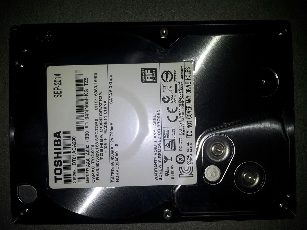 Toshiba DT01ACA050 HDD 2 Tb