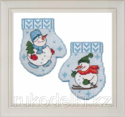 """Набор для вышивания крестом """"Варежка. Снеговик"""""""