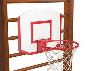 Щит и кольцо баскетбольное на шведскую стенку