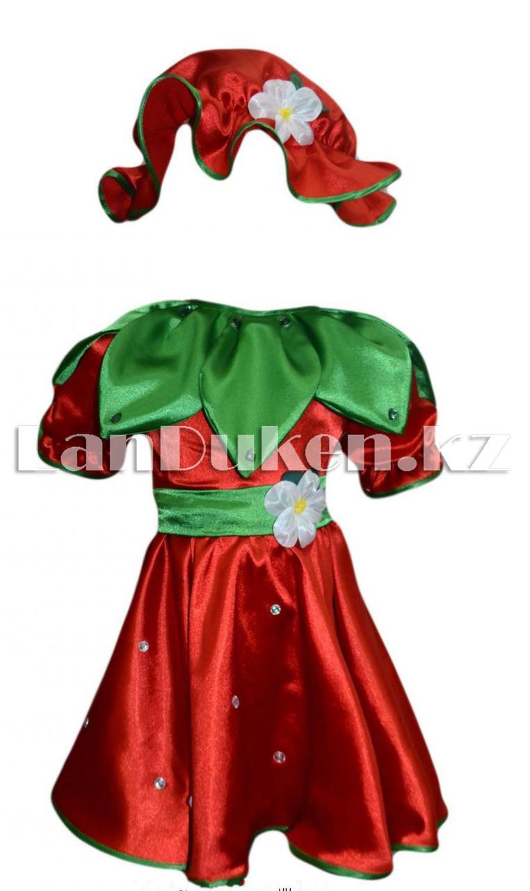 Карнавальный костюм детский овощи и фрукты (01) 24-34 р клубника - фото 1