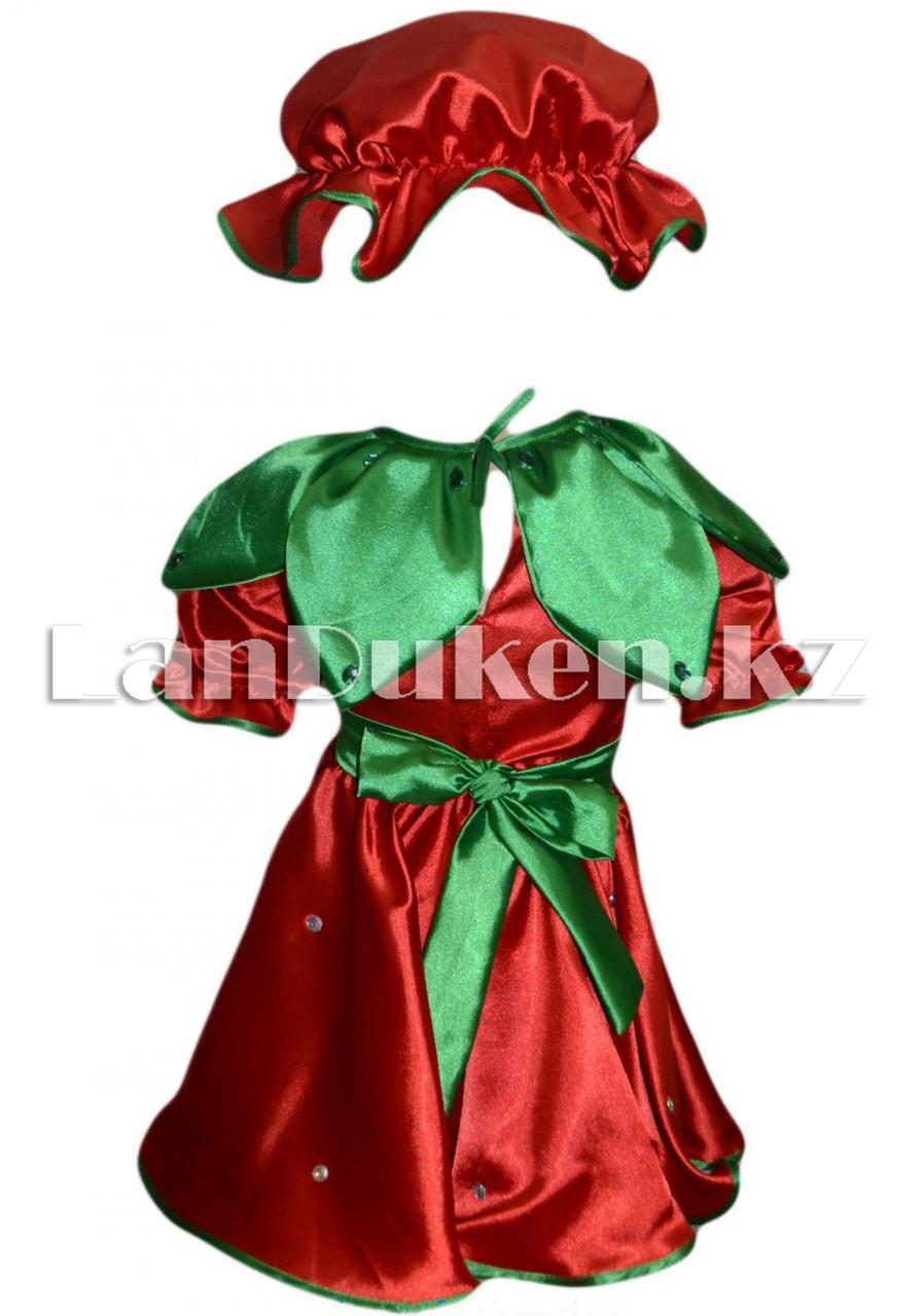 Карнавальный костюм детский овощи и фрукты (01) 24-34 р клубника - фото 2
