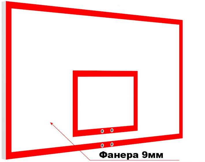 Щит баскетбольный игровой из фанеры на металлическом каркасе