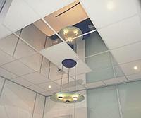 Алюминиевые кассетные подвесные потолки.