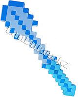 Светящаяся булаваМайнкрафт (Minecraft) с звуковым эффектом голубая 52 см