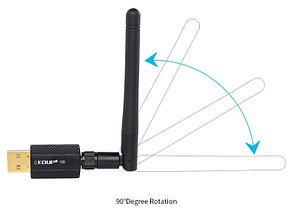 Высокоскоростной USB wifi 600 Мб/с. адаптер EDUP с антенной., фото 3