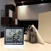 Термометр с гигрометром и часами CX-318. Бесплатная доставка.