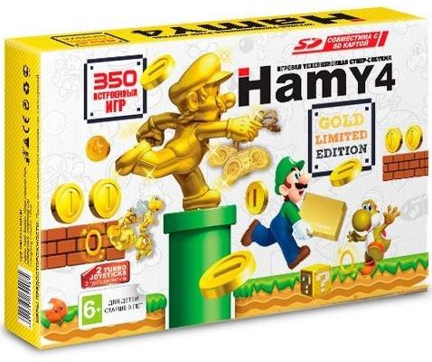 """Игровая приставка SEGA-Dendy Hamу 4  """"Mario Gold Limited Edition"""" 350 игр"""