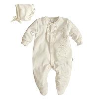 """Подарочный набор для новорожденных. Комплект одежды для малышей """"Зефир"""" молочный для девочек"""